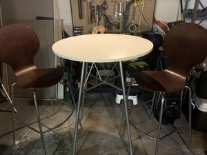 Crate and Barrel high table and chairs for Sale in Cleveland, OH