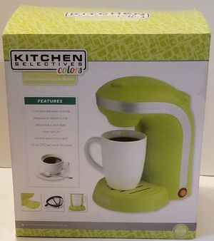 Kitchen Selectives Single Drip Coffee Maker With Mug, Green for Sale in Washington, DC