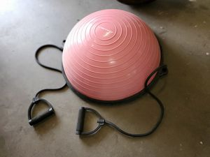 Pink Yoga Ball Balance Trainer with pump for Sale in Oceano, CA