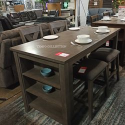 DARK GRAY 5 PCC. COUNTER TABLE AND 4 CHAIR. for Sale in Santa Ana,  CA