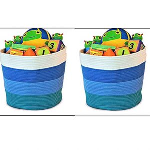 Decorative Baby Storage Organizer Basket - set of 2 for Sale in Campbell, CA