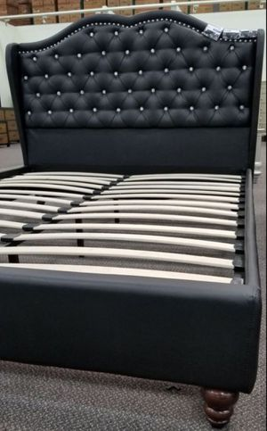 Brand New Queen Size Leather Platform Bed Frame for Sale in Wheaton-Glenmont, MD