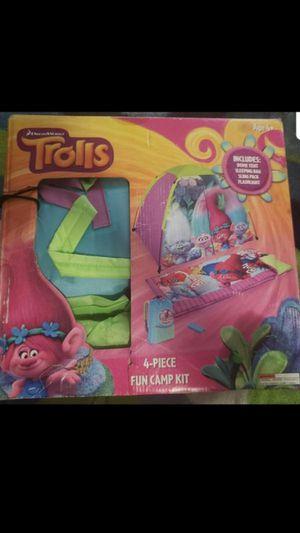 Trolls Camp Kit $30.00 PICK UP ASAP make me an offer for Sale in San Bernardino, CA