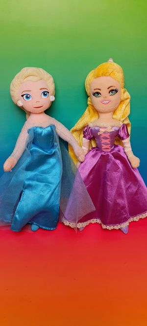 Disney Frozen Elsa and Tangled Rapunzel 9 Inch Rag Dolls for Sale in Santa Ana, CA