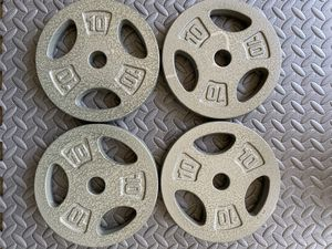 """Set of 4 10lb 1"""" Standard Barbell Weight Plates (Cast Iron) for Sale in Fremont, CA"""