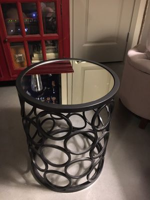 Metal and mirrored end table from World Market for Sale in Jersey City, NJ