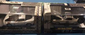 2 NIP Castline M2 Collectible 1:64 Scale Die-cast Cars - '07 Corvette Z06 Ground Pounders White & '65 Shelby GT350R Premium Ed. #89 White w/Blue Raci for Sale in Gardner, KS
