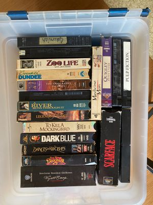 Tub off vhs movies classics for Sale in Bakersfield, CA