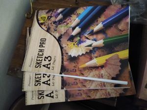 """Sketch pads (3) brand new . 24"""" . $9 for all 3 . 60 pages each for Sale in Fairfield, CA"""