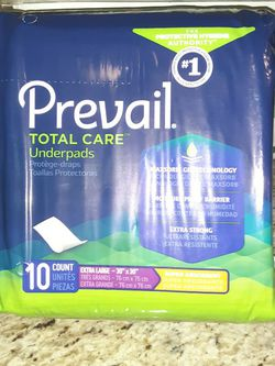 Prevail Total Care Underpads for Sale in Winchester,  CA