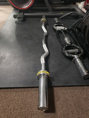 Olympic curl bar for Sale in Victorville, CA