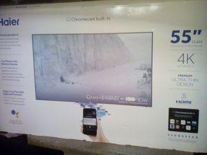 """Haier 55"""" 4k ultra thin TV for Sale in Chandler, AZ"""