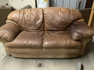 Leather n suede loveseat for Sale in Austin, TX