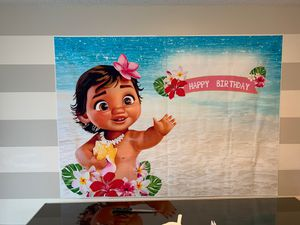 Baby Moana Birthday Banner for Sale in Kissimmee, FL