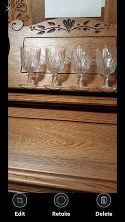 SET OF 4 DEPRESSION GLASS GOBLETS for Sale in Lynchburg,  VA