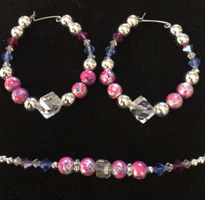 Earrings and bracelet set for Sale in Middletown, PA