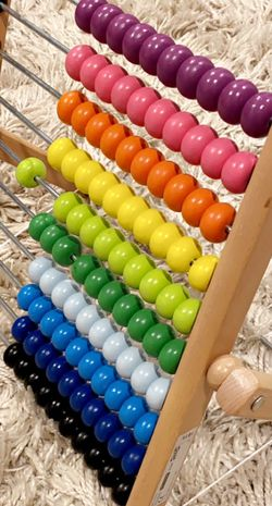 New Abacus Wooden Counting Toy For Kids Colorful for Sale in Vancouver,  WA