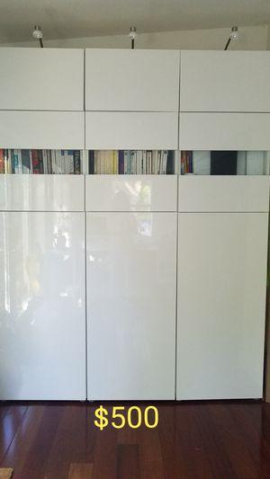Bookcase/wardrobe Ikea white gloss for Sale in Miami, FL