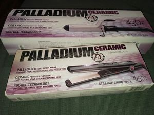 Palladium Ceramic Curling Iron & Straightening Iron by jilbere. Both for $20 for Sale in Newport News, VA