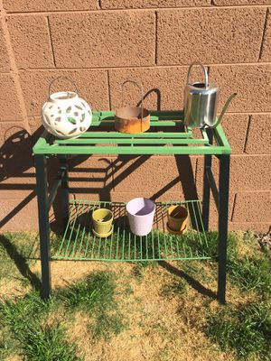 #320a. Shabby Metal Plant Garden Stand for Sale in Chandler, AZ