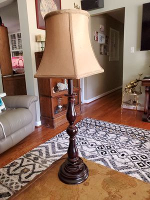 34 inch wooden lamp with shade for Sale in Saint Charles, MO