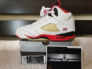 "Jordan ""Fire Red Black Tongue"" 5s for Sale in Pasadena, CA"