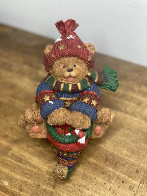 The Christmas Collectibles Stocking Holder Bear With Original Box for Sale in Orlando, FL