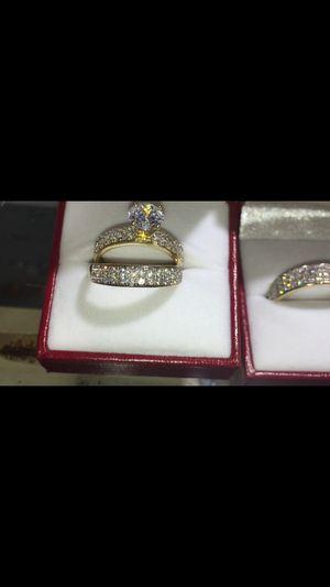 14K diamond gold Wedding ring set for Sale in Boston, MA