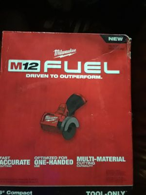 "Milwaukee M12 Fuel 3""Compact cut off tool for Sale in Modesto, CA"