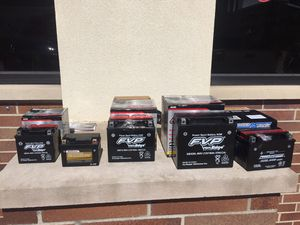 New motorcycle batteries available all sizes for Sale in Aurora, IL