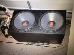Two Rockford fosgate 15 inch subwoofers in sealed box for Sale in Las Vegas, NV