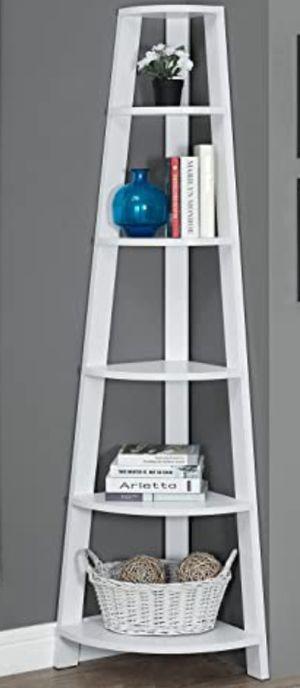 "New!! Bookcase, bookshelves, organizer, storage unit , shelving display, living room furniture, corner bookcase, white, 72"" for Sale in Phoenix, AZ"