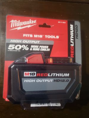 Milwaukee M18 18-Volt Lithium-Ion High Output 12.0Ah Battery Pack for Sale in Sacramento, CA