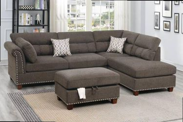 Sectional with ottoman. Price firm. New in boxes for Sale in Ontario,  CA