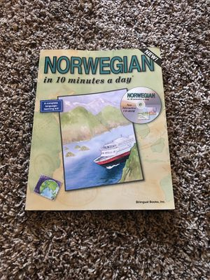 Norwegian in 10 minutes a day with stickers and CD for Sale in Aurora, CO
