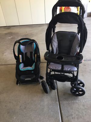 Baby trend double stroller and car seat $ 120 for both like new for Sale in Corona, CA