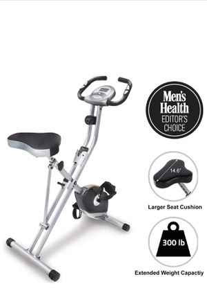 Exerpeutic Folding Magnetic Upright Exercise Bike with Pulse Monitoring for Sale in Kirkland, WA