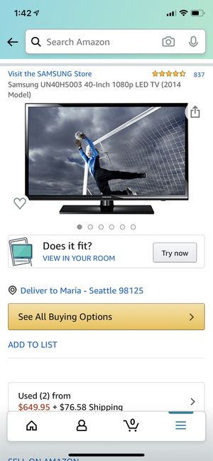 Used 40 inch Samsung Tv for Sale in Seattle, WA