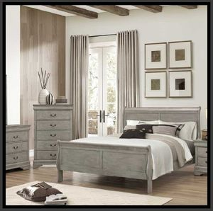 Grey Queen size 4 Piece Bedroom Set COLOR CHOICE for Sale in Glendale, AZ