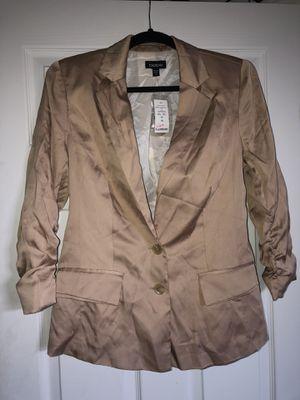 NWT Bebe women's blazer jacket in gold sateen sz 10 for Sale in Beaverton, OR