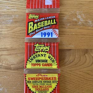1991 TOPPS > SEALED RACK PACK > 45 CARDS > Possible CHIPPER JONES (RC) GEM MT 10 for Sale in Huntington Beach, CA
