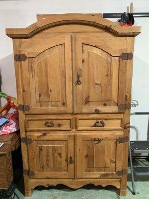 Rustic pine armoire for Sale in Morrisville, PA