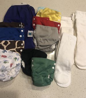 Cloth Diapers Bottembumpers and Wet Bag for Sale in Queen Creek, AZ