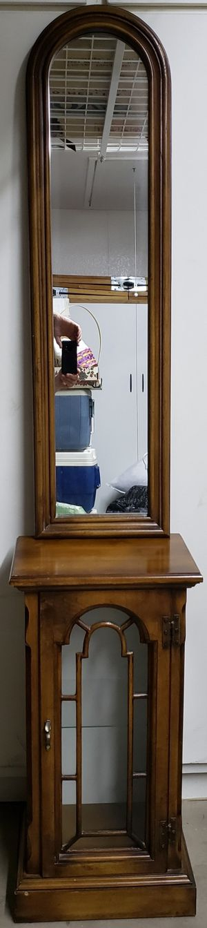 Curio cabinet and mirror for Sale in Scottsdale, AZ