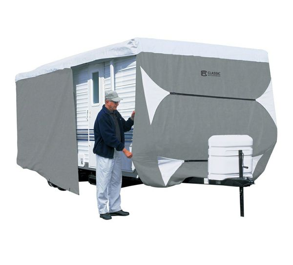 Classic Accessories Over Drive PolyPRO3™ Deluxe Travel Trailer Cover or Toy Hauler Cover, Fits 27' - 30' RVs