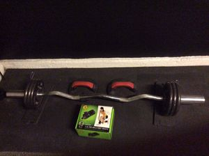 Curl bar, push up handles & a little something for the wifey 😋 for Sale in Las Vegas, NV