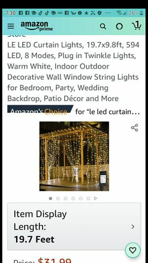 LED curtain lights for Sale in Las Vegas, NV