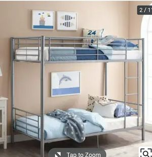 Kids twins bunk bed like new with one mattress included - must pick up today for Sale in Silver Spring, MD