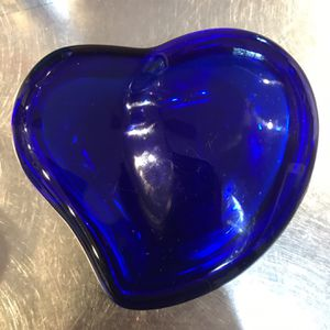 Tiffany Brand Cobalt Blue Glass Heart Jewelry Box for Sale in Miami, FL