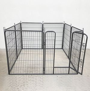 "New $100 Heavy Duty 40"" Tall x 32"" Wide x 8-Panel Pet Playpen Dog Crate Kennel Exercise Cage Fence Play Pen for Sale in Pico Rivera, CA"
